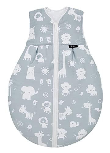 Alvi Baby Kugelschlafsack Molton Zootiere blau 911-1, Größe:110