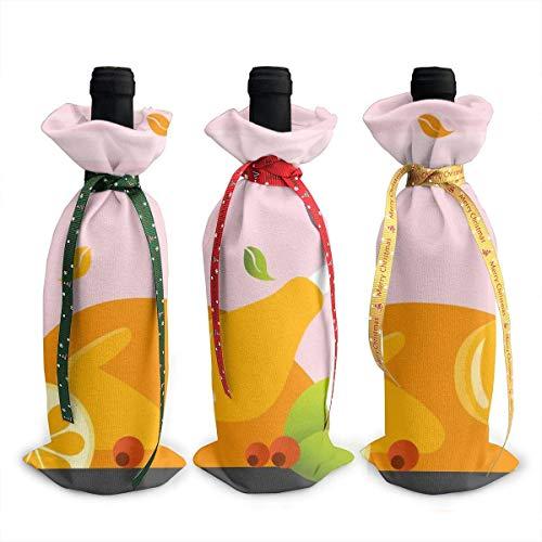 Otoño Acción de Gracias Feliz Turquía Vela de Cristal Chrsitmas Navidad Botella...