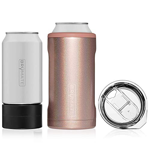 BrüMate HOPSULATOR TRíO 3-in-1 Stainless Steel Insulated Can Cooler, Works With 12 Oz, 16 Oz Cans...