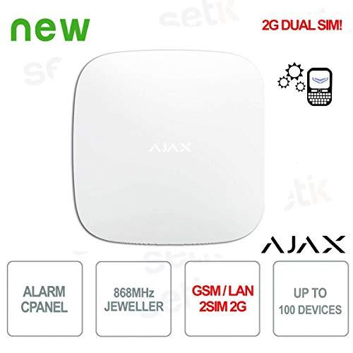 Ajax - Central de Alarma Ajax HUB GPRS/LAN 868MHz 2SIM 2G - AJ-HUB2-W