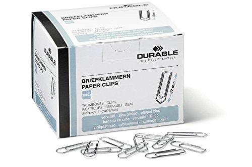 Durable 121125 Briefklammern (32 mm,...