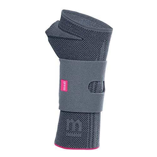 medi Manumed active - Handgelenkbandage rechts | silber | Größe I | Kompressionsbandage zur Stabilisierung des Handgelenks