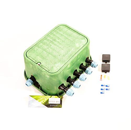 Ventilbox EXPERT - 5 x Hunter PGV 101 MM-B Magnetventil (5 Zonen), mit (1