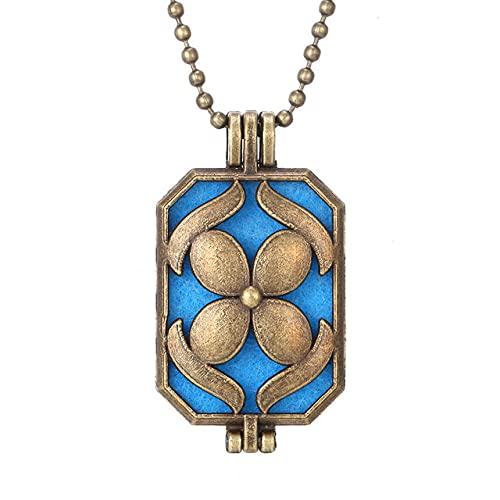 Colgante De Aromaterapia Abierto Aromaterapia Essential Oil Difusor Amor Colgante Suéter Cadena Collar-Q