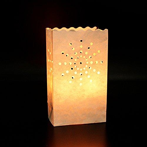 ★50pcs Linternas Pantalla Papel Luminaria para Velas Bolsas Decorativas Velas