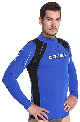 Cressi XLW490207, T-Shirt Termica Maniche Lunghe Uomo, Blu/Nero, XXXL/7 (58)