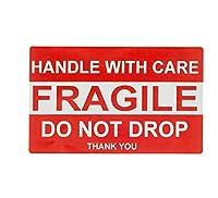 FRAGILE フラジール ステッカー ラベル 10.1×15.2cm 壊れ物 取扱注意 防水 光沢 500枚セット