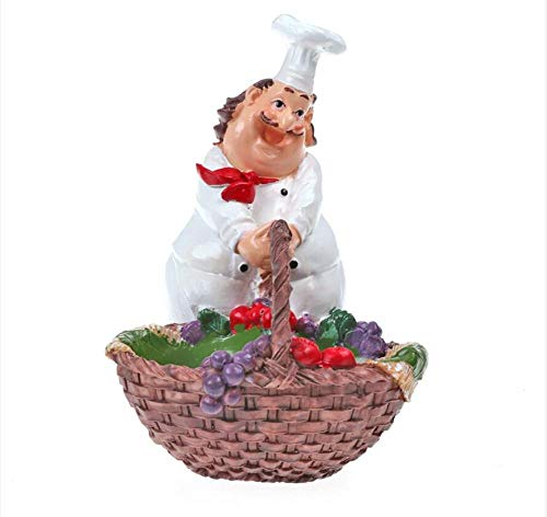 LOSAYM Sculpture Garden Statue Greek Hotel Lucky Decoration Chef Doll Resin Decoration Chinese and Western Restaurant Hotel Business Card Case Seasoning Box-Seasoning-Box-As Shown