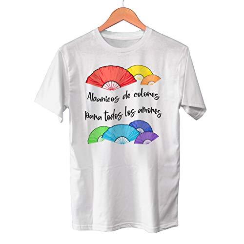 Muy Chulo Camiseta Abanicos de Colores (XXL)
