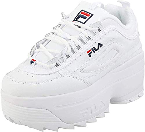Fila Disruptor II Wedge Mujer Negro/Blanco Zapatillas-UK 4 / EU 37.5