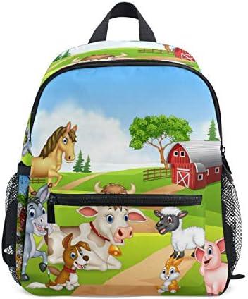 Animal Farm Spring School Backpack Student Bags Kid Bookbag for Children Travel Daypack Girl product image