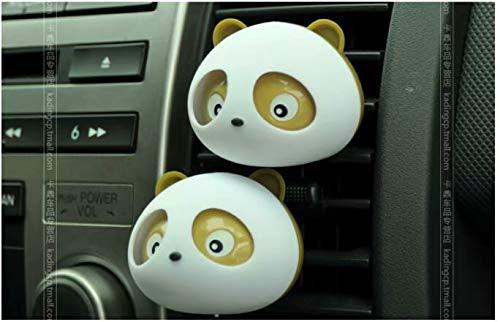 2 pcs Panda-shape désodorisants pour voiture Parfum avec clips – Noir