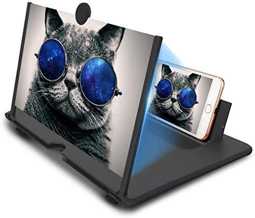 YYOJ 12' Amplificatore di Schermo a Telefono Cellulare, Len 3D Tirare-out Screen Magnificer, Adatto per Guardare Video su Tutti i Smartphone