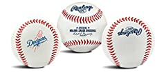 Official regulation size Baseball Features primary team logo on front panel Commissioner's signature on the top panel Rawlings logo Printed on the back Features traditional Red stitching