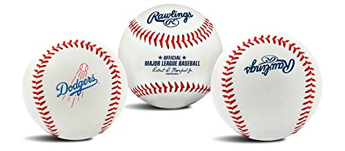 Rawlings MLB Los Angeles Dodgers Team Logo Baseball, Official, White