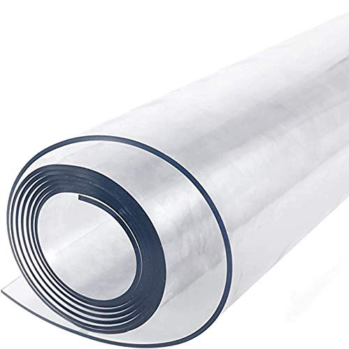 Transparente PVC-Tischdecke mit 1,0 mm, 2,0 mm, 3,0 mm Dicke, wasserdichte transparente Tischdecke aus weichem Glas(Size:70 * 140cm,Color:2.0mm)