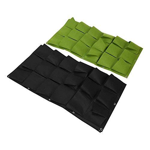 36 Bolsas Bolsas para plantar Colgante de pared Jardinera Jardineras Exterior Al aire libre Vertical Greening Grow Bolsos (Color : Negro)