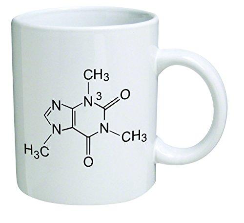 Funny Mug - Caffeine Molecule, Chemistry - 11 OZ Coffee Mugs - Funny Inspirational and sarcasm - By A Mug To Keep TM