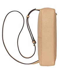Calvin Klein Lily Saffiano Leather Top Zip Crossbody, RYE