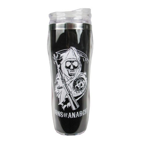 JUST FUNKY Sons Of Anarchy Reverse Logo Travel Mug by JUST FUNKY