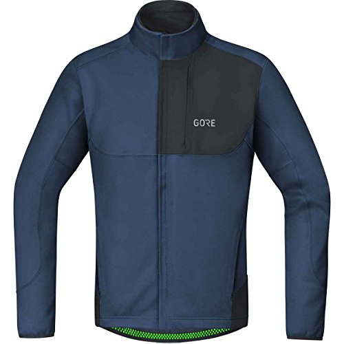 GORE WEAR C5 Chaqueta de Ciclismo para Hombre GORE WINDSTOPPER, M, Azul oscuro/Negro