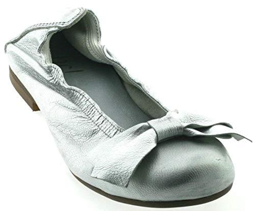 Clic! Mädchen Ballerina CL-7353, ab Gr. 33, Größe:35 EU, Farbe:Silver