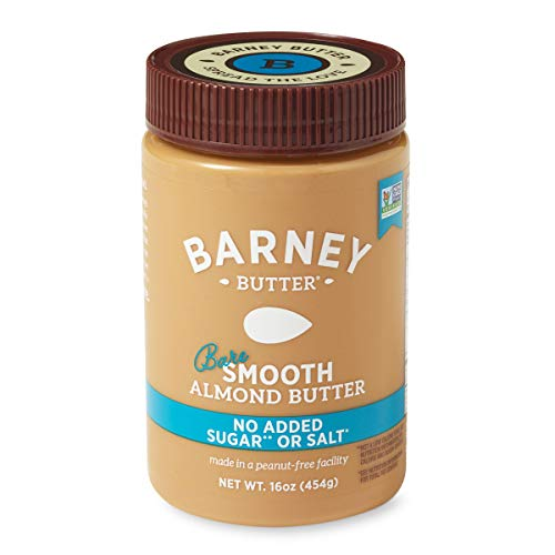 BARNEY Almond Butter, Bare Smooth, No Stir, No Sugar, No Salt,...