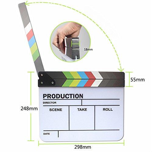 Fengh coloré Acrylique TV Play film Enregistrement vidéo Clap Ardoise