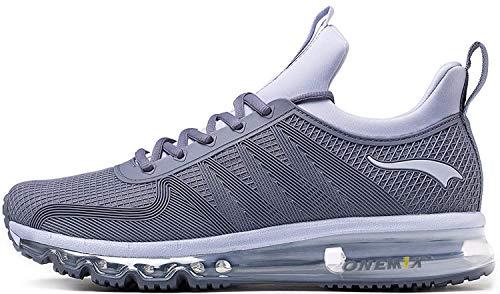 black friday scarpe ONEMIX Scarpe da Ginnastica da Uomo Corsa Sportive Fitness Running Sneakers Basse Interior Casual all'Aperto 1191 Grigio Argento 41