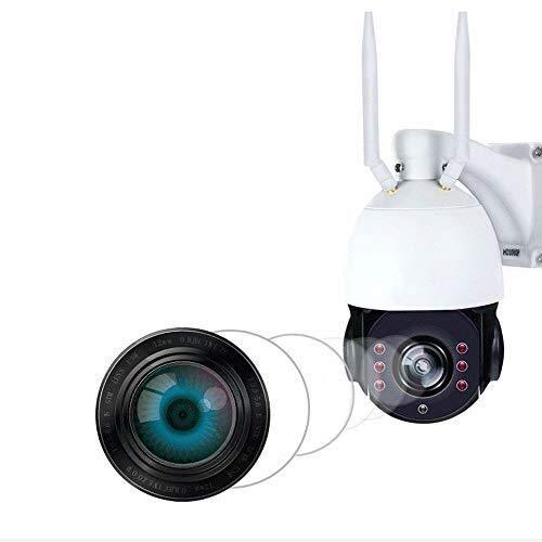 TLMYDD 2 Millones con cámara de vigilancia con Lente de Zoom Solar, monitoreo Remoto de visión Nocturna, detección de Movimiento de Voz Dual a Prueba de Agua de Gran Capacidad Cámara de Seguridad