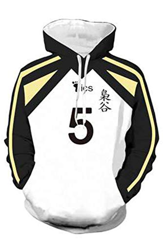 Haikyuu Fukurodani Academy Akaashi Keiji Nr.5 Volleyball Club Jersey Hoodie Pullover mit Kapuze Streetwear Kapuzenpullover Sweatshirt Cheerleaders Cosplay Kostüm Uniforme Sportswear