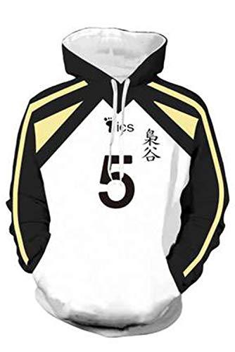 Snuter Haikyuu Fukurodani Academy Akaashi Keiji Nr.5 Volleyball Club Jersey Hoodie Pullover mit Kapuze Streetwear Kapuzenpullover Sweatshirt Cheerleaders Cosplay Kostüm Uniforme Sportswear