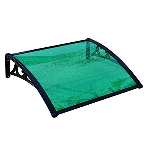 N / A Sun Shade Window Awning, DIY Door Canopy Green Cover Board For Patio Residential Overhead With Black Bracket, 11 Sizes PENGFEI (Color : A, Size : 60x200cm)