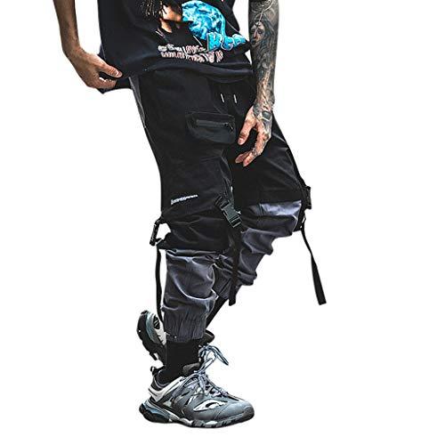 Tomatoa Herren Cargohose Jogginghose Streetwear Hosen Chino Sweatpants Freizeit Lang Hosen Sporthose Outdoorhose Traininghose mit Taschen S - 2XL