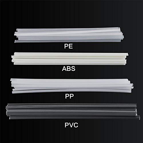 NAKELUCY Kunststoffschweißstäbe, gelb/rot/grün/blau/transparent PP Kunststoffschweißstäbe ABS/PP/PVC/PE Stoßstangenreparatur Schweißstäbe Schweißen Lötzubehör 50St