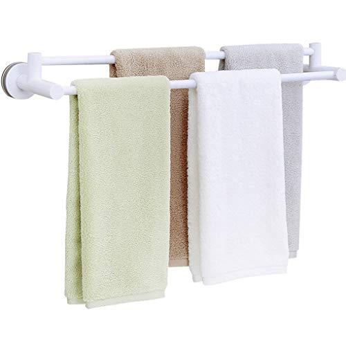 XWYWY Toallero Toallero, sin ponche de baño toallero, montado en la Pared Titular de la Toalla de la Barra de Toalla (Color : Blanco)