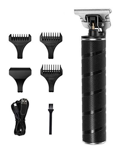 LNLJ Electric Pro Li Outliner - Cortapelos recargables para hombre, sin cable, corte de hoja en T, sin detalles, afeitadora de barba, barbería, color negro