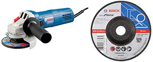 Bosch Professional Angle Grinder with Bosch Grinding Discs, Best for Metal