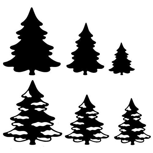 Stanzschablonen | Tannenbäume 1 | 6 Stück