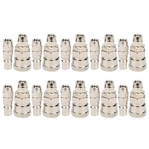 Conjunto de accesorios de aire de conexión rápida rápida, -20 + 70 (℃) Control de calidad de acero inoxidable -20 70 (℃)