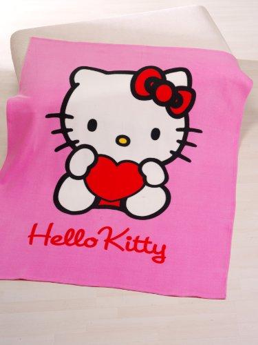 Hello Kitty Polarfleecedecke Hearts 125 x 160 cm