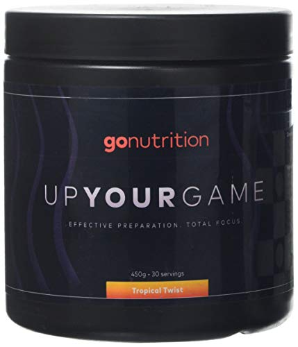 GoNutrition Up Your Game Extreme Pre workout 450g Total Focus With TeaCrine ( Tropical Twist )