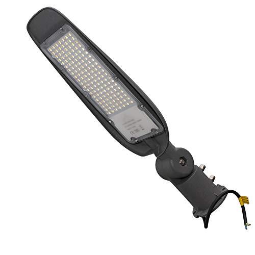 Faro armatura stradale lampione LED 100W 10000lm inclinabile 180 6500K IP65 230V
