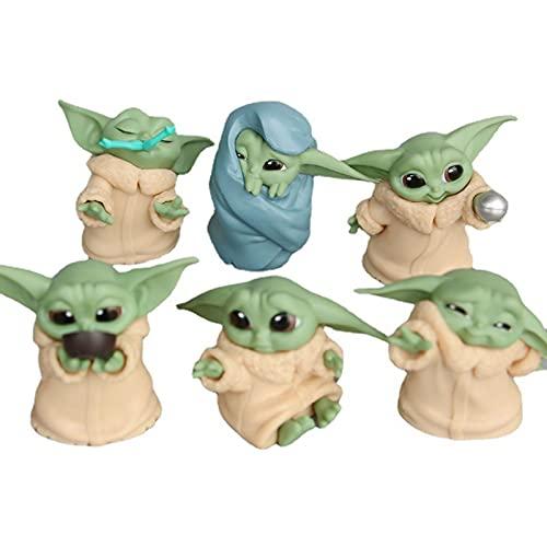 GUOGUODA Baby Yoda,Ornamenti per Bambole Anime,Giocattoli Figura Regalo per Collezionisti Ragazzi e Bambini