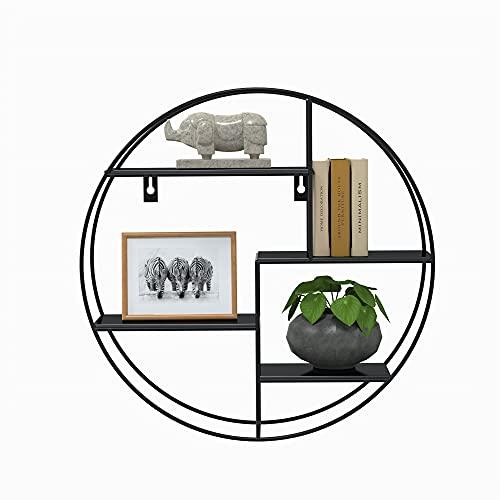 Gadgy Estanteria Pared | Estanteria Metalica | 42 x 42 x 10 cm. | Estanteria Industrial |Estanteria Redonda | Esntateria Salon | Decoración para El Salon, La Habitacion O La Cocina