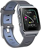 Smart Watch, <span class='highlight'>GPS</span> <span class='highlight'>with</span> <span class='highlight'>17</span> <span class='highlight'>Sports</span> <span class='highlight'>Modes</span> <span class='highlight'>Activity</span> Tracker Calories Counter IP68 Waterproof Touch Screen Watches, Heart Rate Sleep Trackers <span class='highlight'>with</span> Pedometer Step for Women Men (Dark Blue)
