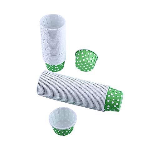 Estuche de papel para magdalenas Estuche de papel para magdalenas Boda Navidad(Green dots)