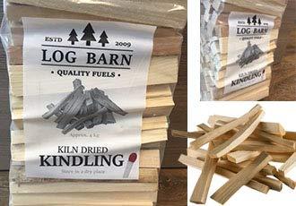 Kindling x 4 Nets – Kiln Dried – alrededor de 12 kg. Perfecto para iniciar fuego abierto, estufas de leña, barbacoas…