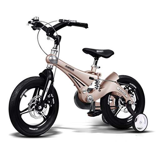Biciclette Bici per Bambini Triciclo Passeggino Mountain Bike Bambini Equilibrata Ammortizzatore Bambini con Ruota Ausiliaria Puzzle Walker