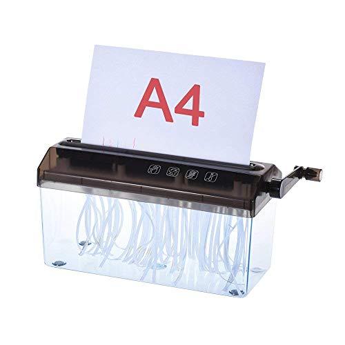 Distruggi-documenti di carta manuale manuale, per scuola e ufficio, A4, 23 cm.